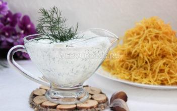 Сметанно-чесночный соус для картошки