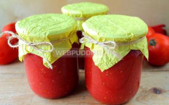 Заправка из помидоров и перца для борща
