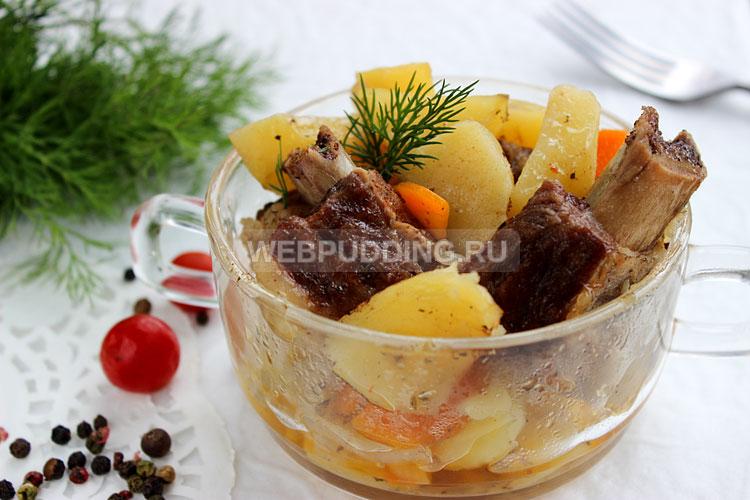 Говяжьи ребрышки в духовке с картошкой