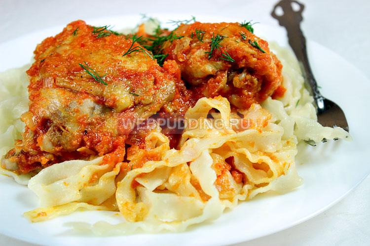 Курица с овощной подливкой