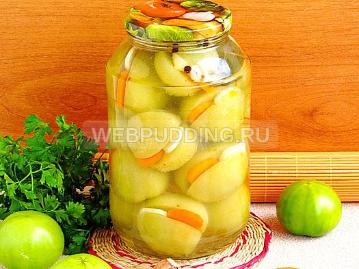 marinovannye-zelyonye-pomidory-s-morkovyu-i-chesnokom-10
