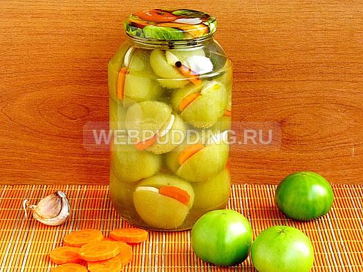 marinovannye-zelyonye-pomidory-s-morkovyu-i-chesnokom-11