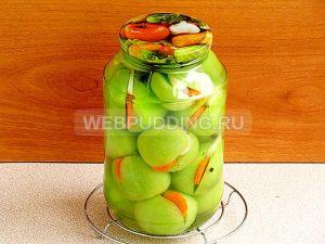 marinovannye-zelyonye-pomidory-s-morkovyu-i-chesnokom-8