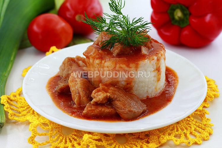 Мясная подлива из свинины