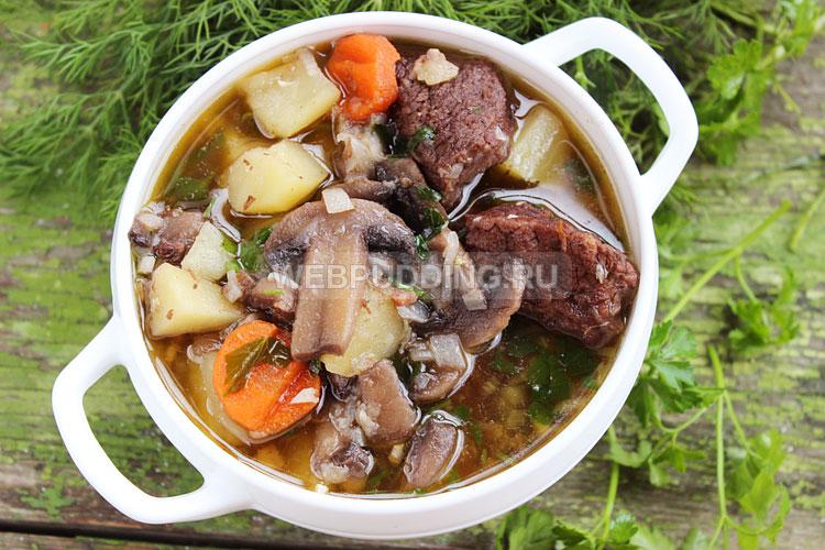 Рагу с говядиной и картошкой