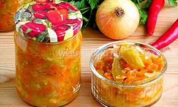 Салат «Дунайский» из зелёных помидоров
