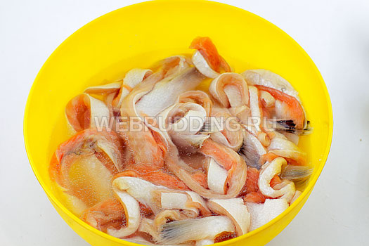 Засолить брюшки лосося в домашних условиях 86