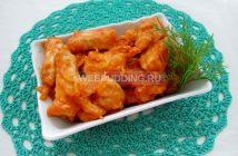 Бефстроганов из курицы со сметаной
