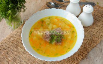 Гороховый суп в мультиварке на говяжьих ребрышках