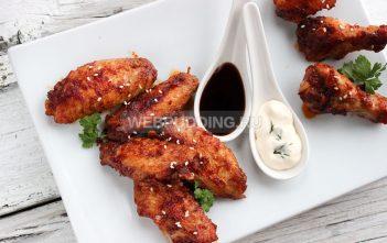 Крылышки в кисло-сладком соусе на сковороде