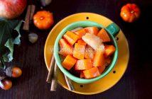 Тыква с яблоками, запеченная в духовке с медом