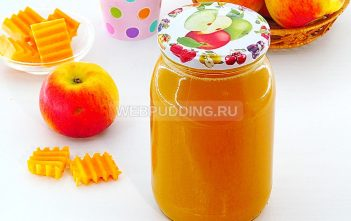 Тыквенно-яблочный сок на зиму