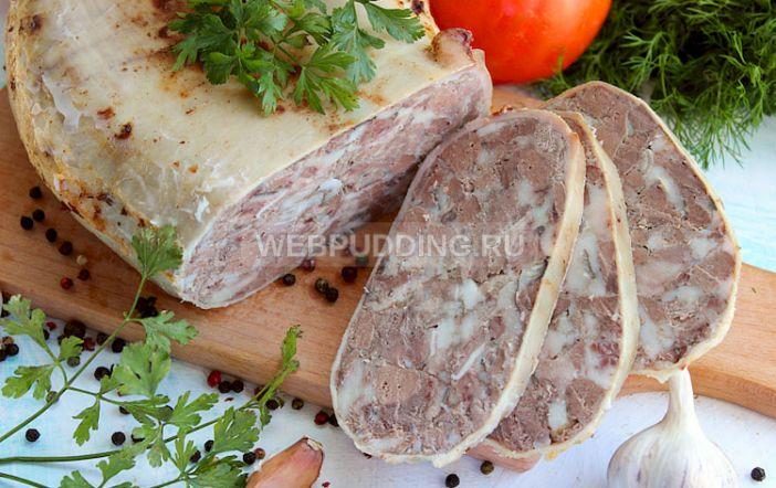 рецепт зельца из свиной головы с фото