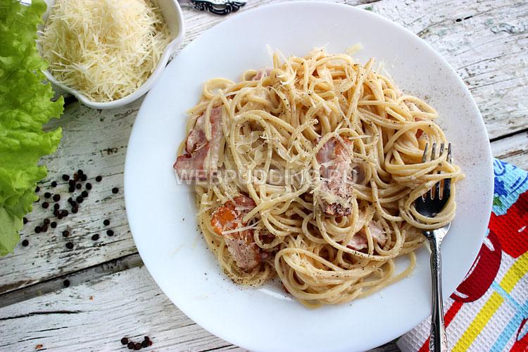 Спагетти карбонара классический рецепт