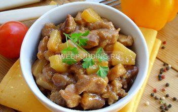 Свинина с ананасами в кисло-сладком соусе