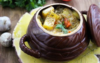 Жаркое в горшочке с мясом и картошкой в духовке