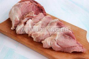 Мясо по французски в духовке фото