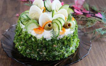 Салат «Восторг» с корейской морковью