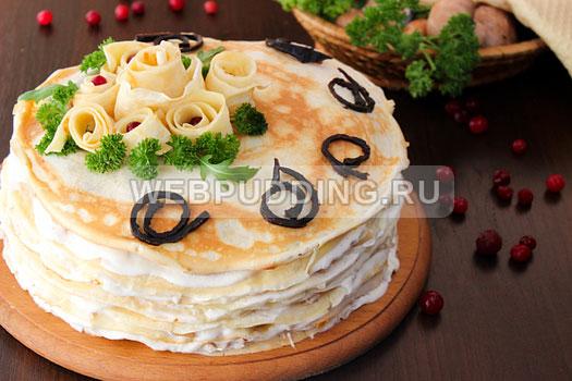 blinnyj-tort-s-kuricej-i-gribami-13
