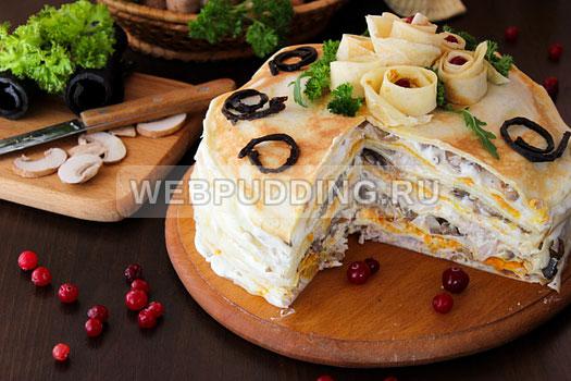 blinnyj-tort-s-kuricej-i-gribami-15
