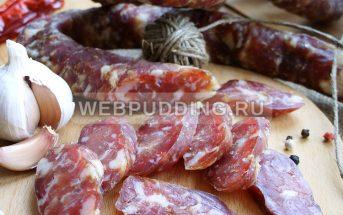 Домашняя сыровяленая колбаса