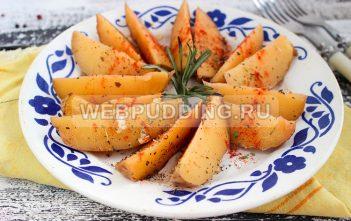 Картофель по-деревенски в микроволновке