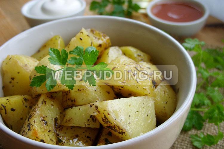 Картофель в микроволновке быстро и просто