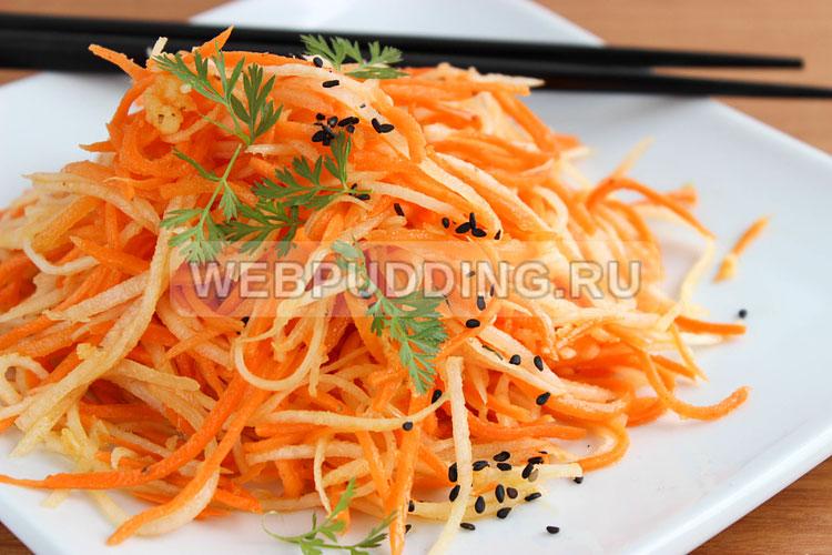 Дайкон по-корейски с морковью