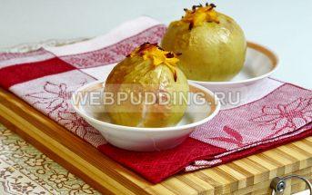 Печёные яблоки с тыквой