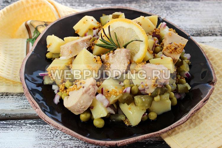 Салат с печенью трески без майонеза