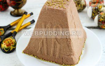 Шоколадная заварная пасха