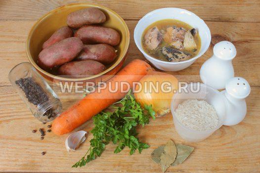 sup v multivarke s risom i rybnymi konservami 1