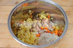 sup v multivarke s risom i rybnymi konservami 5
