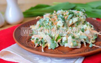 Салат из черемши с балыком