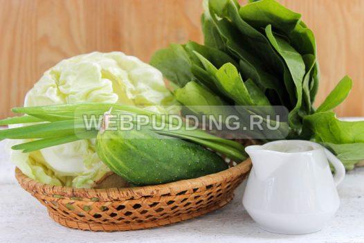 salat iz molodoj kapusty so shpinatom 1