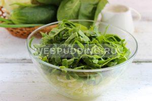 salat iz molodoj kapusty so shpinatom 3