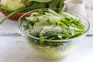 salat iz molodoj kapusty so shpinatom 4