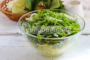 salat iz molodoj kapusty so shpinatom 5