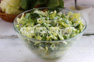 salat iz molodoj kapusty so shpinatom 6
