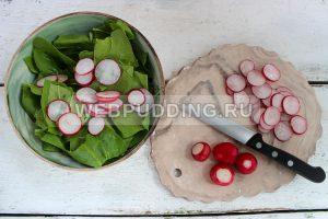 salat so shpinatom i rediskoj 2