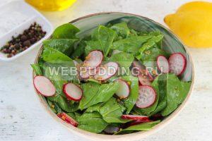salat so shpinatom i rediskoj 4