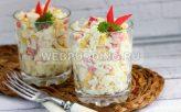 Салат из крабовых палочек с рисом