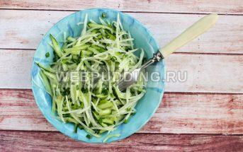 Салат из дайкона с огурцом