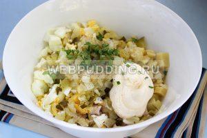 salat s kopchenoj kuricej i ogurcami 5