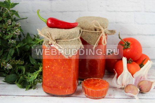 adzhika iz pomidorov s chesnokom 8