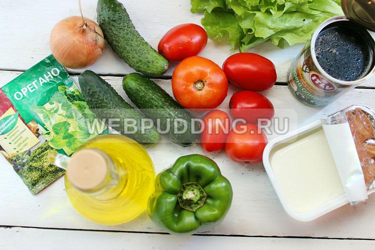 Салат с рыбой классический простой рецепт