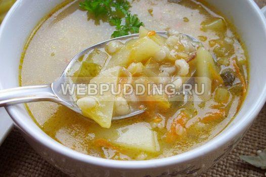 sup rassolnik s perlovkoj i solenymi ogurcami 9