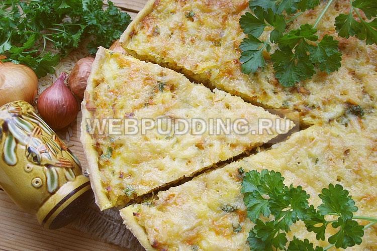 Пирог с рыбой и рисом