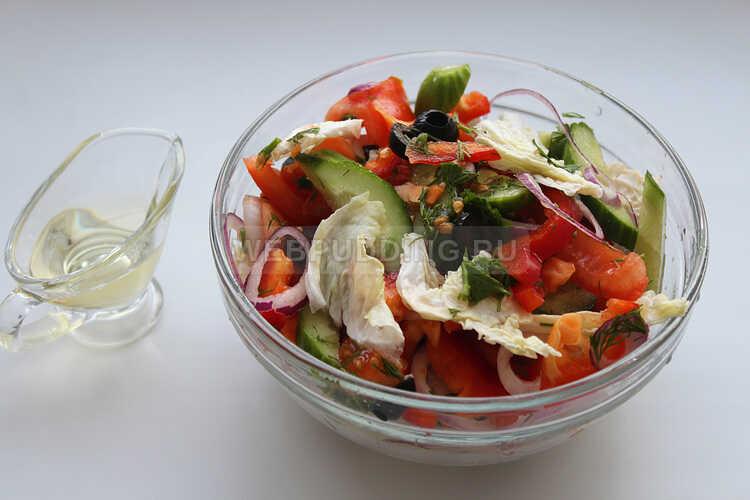 grecheskij salat s pekinskoj kapustoj i rassolnym syrom 10