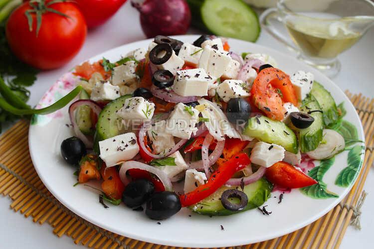 grecheskij salat s pekinskoj kapustoj i rassolnym syrom 17